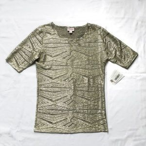 LuLaRoe Elegant Metallic Gigi Top